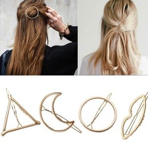 Round OR Triangle Large Hair Clip pin